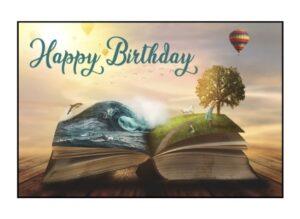 Happy Birthday Book & Balloon