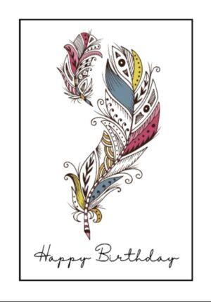 Birthday Card Feather